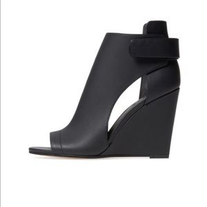 Vince Katia leather open toe ankle booties